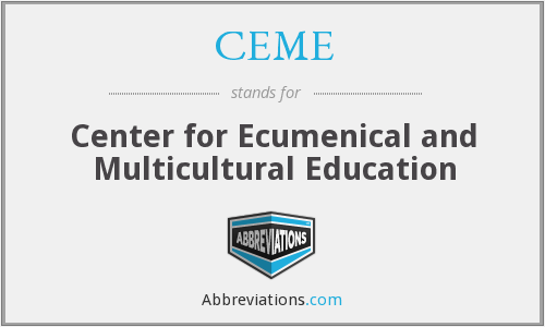 CEME - Center for Ecumenical and Multicultural Education