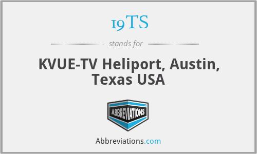 19TS - KVUE-TV Heliport, Austin, Texas USA