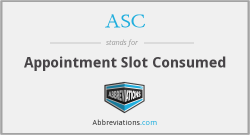 ASC - Appointment Slot Consumed
