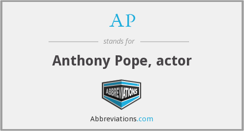 AP - Anthony Pope, actor