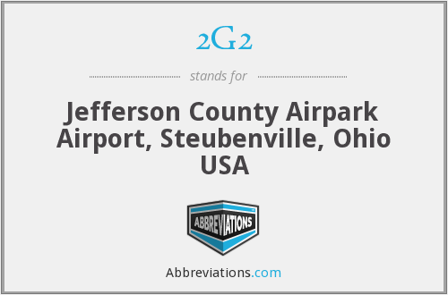 2G2 - Jefferson County Airpark Airport, Steubenville, Ohio USA