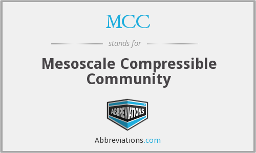MCC - Mesoscale Compressible Community