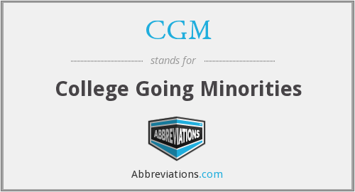 CGM - College Going Minorities