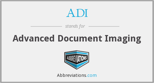 ADI - Advanced Document Imaging