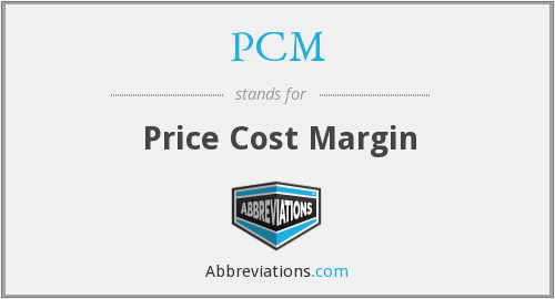 PCM - Price Cost Margin