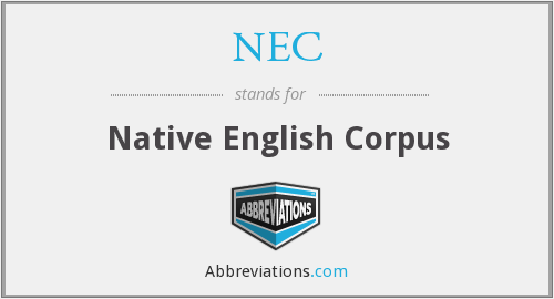 NEC - Native English Corpus