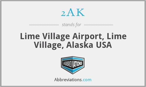 2AK - Lime Village Airport, Lime Village, Alaska USA