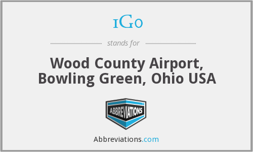1G0 - Wood County Airport, Bowling Green, Ohio USA