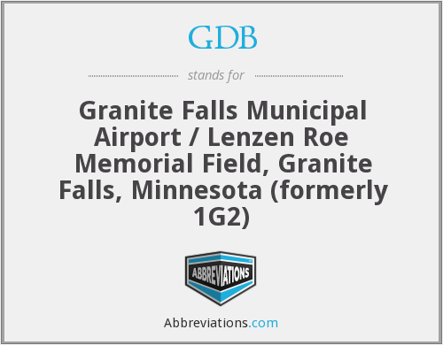 GDB - Granite Falls Municipal Airport / Lenzen Roe Memorial Field, Granite Falls, Minnesota (formerly 1G2)