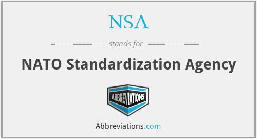 NSA - NATO Standardization Agency