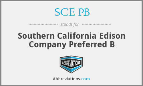 What does SCE PB stand for?