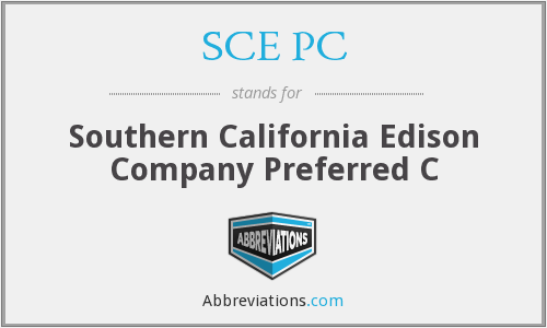 What does SCE PC stand for?