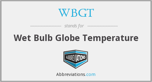 WBGT - Wet Bulb Globe Temperature