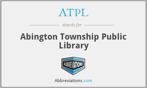 ATPL - Abington Township Public Library