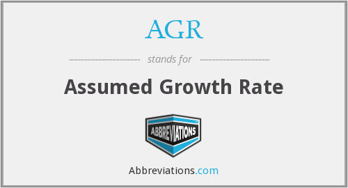 AGR - Assumed Growth Rate