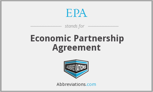 EPA - Economic Partnership Agreement