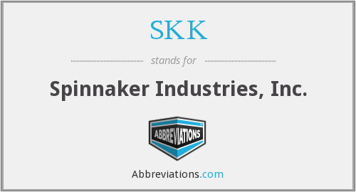 SKK - Spinnaker Industries, Inc.