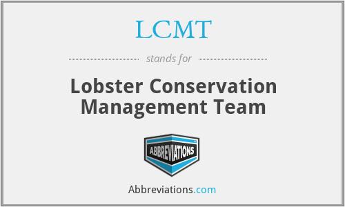 LCMT - Lobster Conservation Management Team