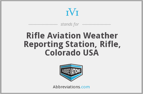 1V1 - Rifle Aviation Weather Reporting Station, Rifle, Colorado USA