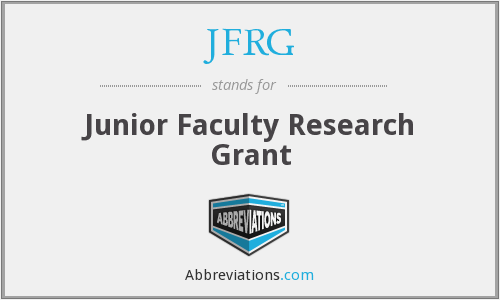 JFRG - Junior Faculty Research Grant