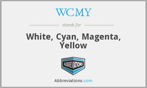 WCMY - White, Cyan, Magenta, Yellow