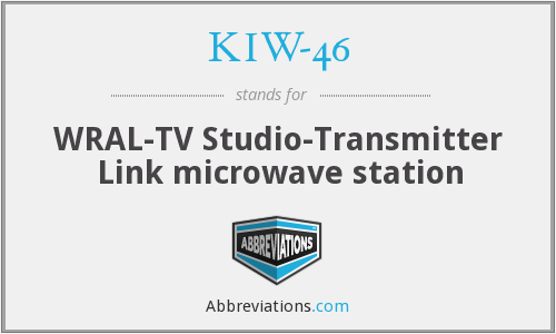 KIW-46 - WRAL-TV Studio-Transmitter Link microwave station