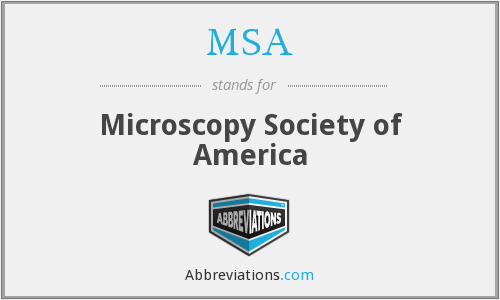 MSA - Microscopy Society of America