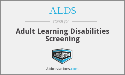 ALDS - Adult Learning Disabilities Screening