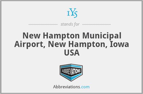 1Y5 - New Hampton Municipal Airport, New Hampton, Iowa USA