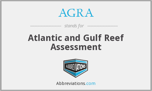 AGRA - Atlantic and Gulf Reef Assessment