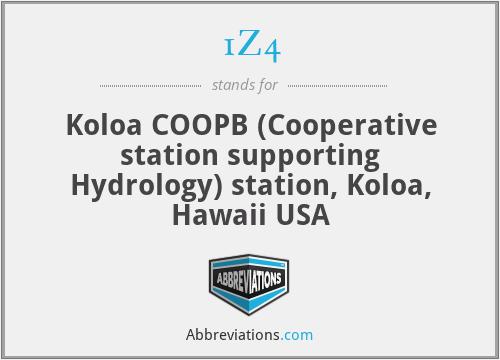 1Z4 - Koloa COOPB (Cooperative station supporting Hydrology) station, Koloa, Hawaii USA