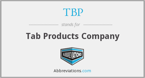TBP - Tab Products Company