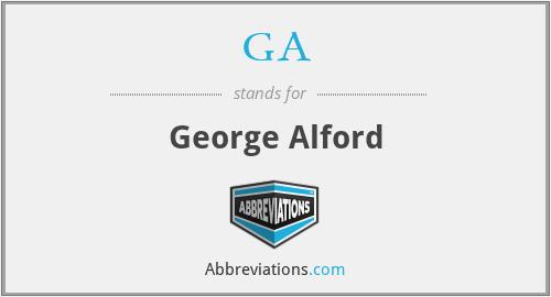 GA - George Alford