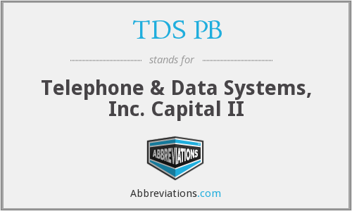What does TDS PB stand for?