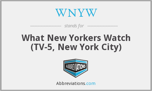 What does WNYW stand for?