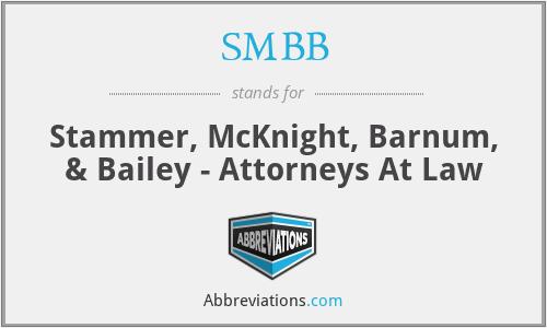 SMBB - Stammer, McKnight, Barnum, & Bailey - Attorneys At Law