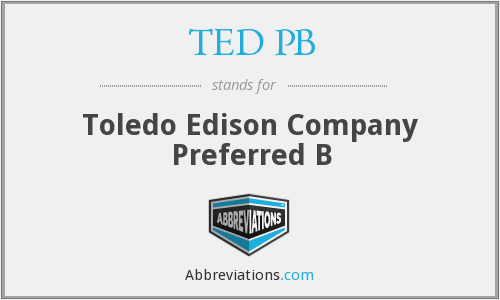 What does TED PB stand for?