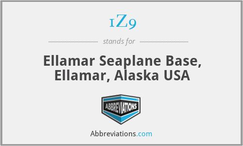1Z9 - Ellamar Seaplane Base, Ellamar, Alaska USA