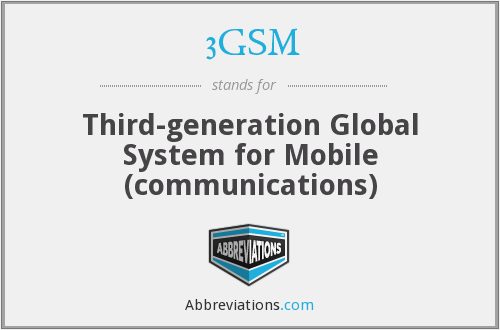 3GSM - Third-generation Global System for Mobile (communications)