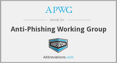 What does APWG stand for?