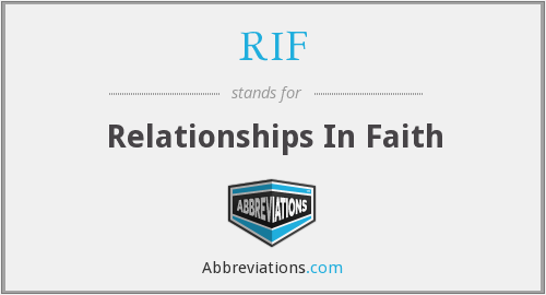RIF - Relationships In Faith