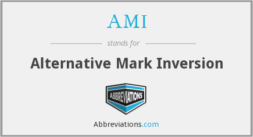 AMI - Alternative Mark Inversion