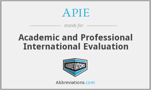 APIE - Academic and Professional International Evaluation