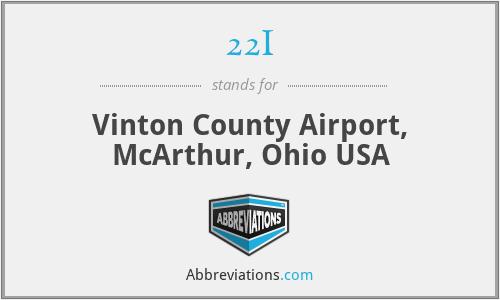 22I - Vinton County Airport, McArthur, Ohio USA