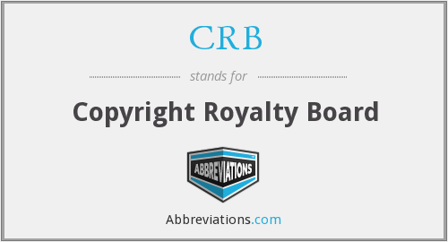 CRB - Copyright Royalty Board