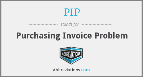 PIP - Purchasing Invoice Problem