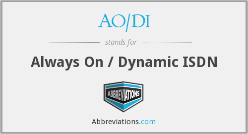 What does AO/DI stand for?