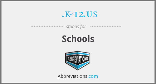 What does .K-12.US stand for?