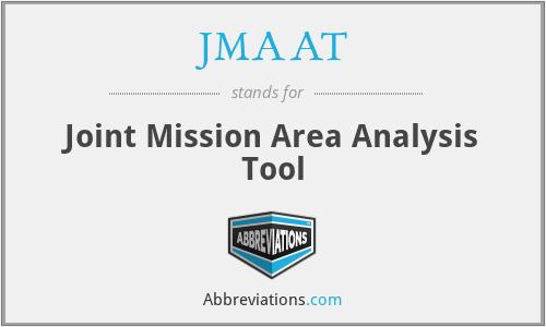 JMAAT - Joint Mission Area Analysis Tool
