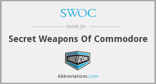 SWOC - Secret Weapons Of Commodore